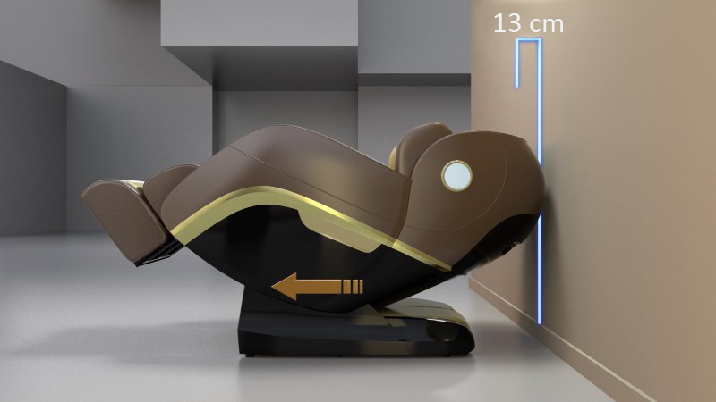 Platzsparender Massagesessel, der Sessel benötigt Platz