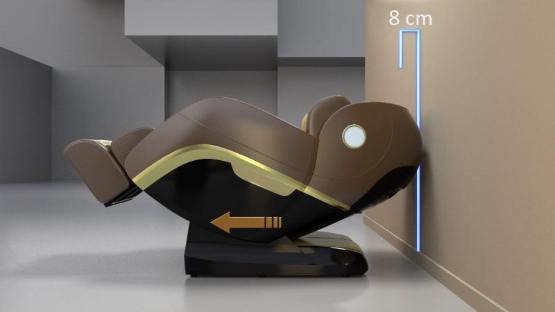 Der Massagestuhl benötigt nur 8 cm Abstand zur Wand