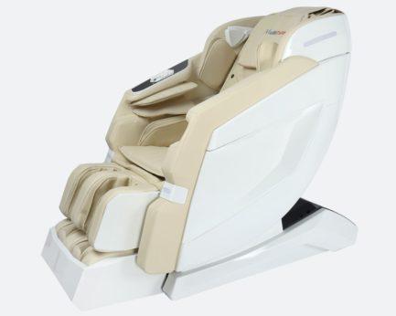 Massagesessel Produktfoto Modell Prestige in der Farbvariante Weiss/Beige