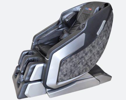 Produktfoto Massagesessel Vision in der Farbvariante Schwarz/Silber - seitlich fotografiert